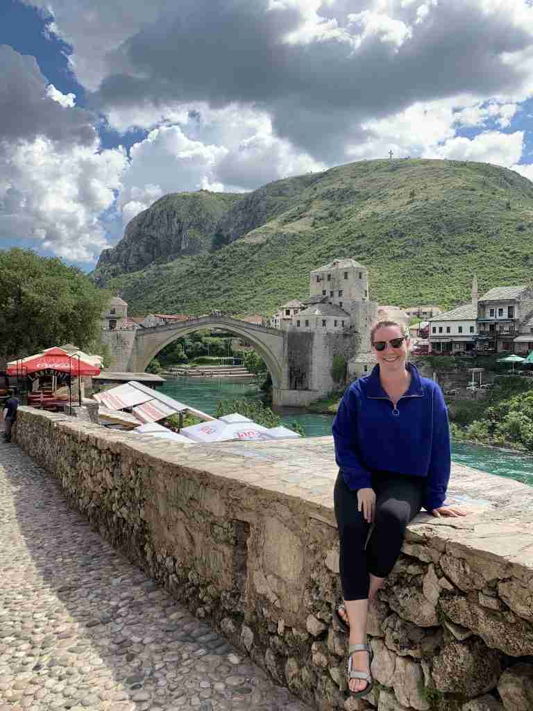 Solo female traveler in Mostar Bosnia