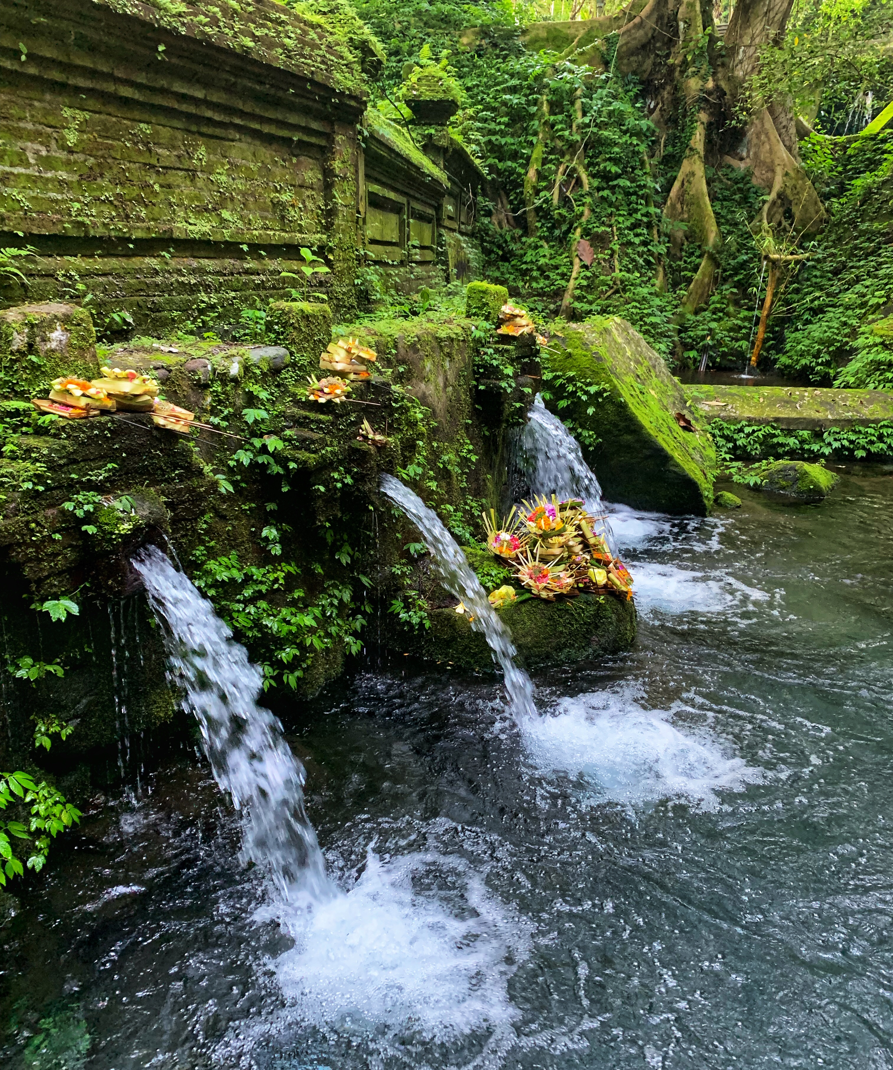 A Hindu water temple in Bali Indonesia for water purification ritual