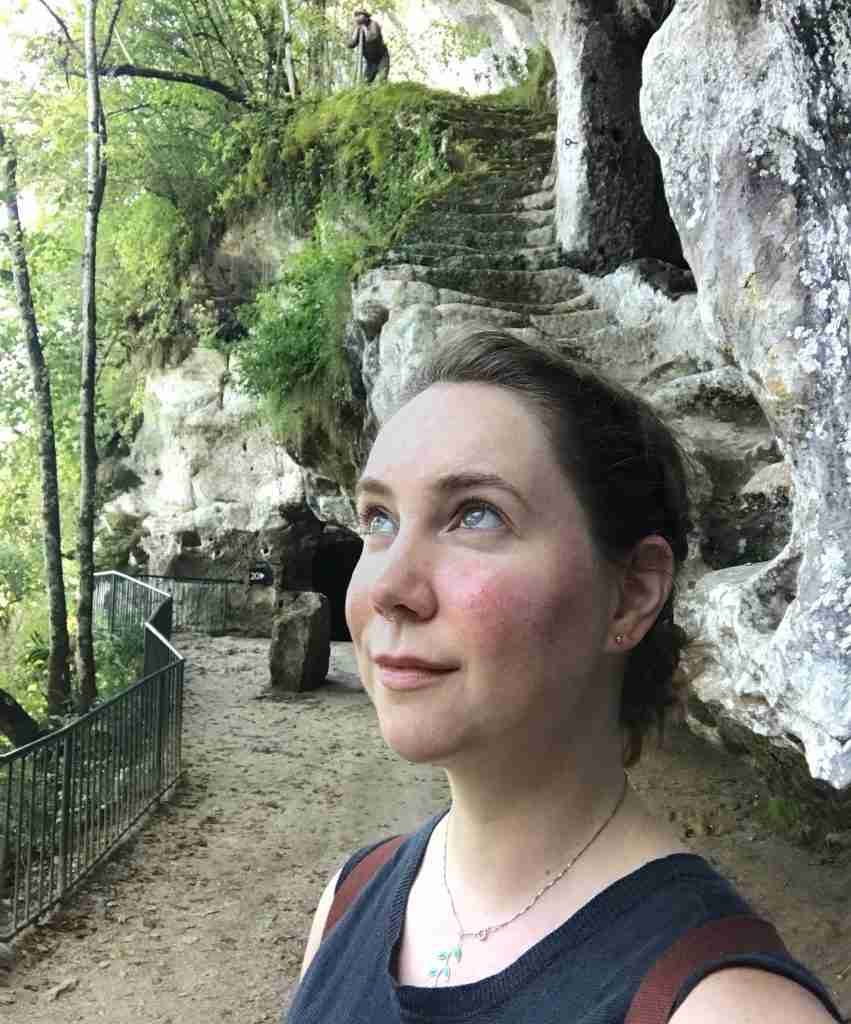 A solo female traveler in the Dordogne region of France