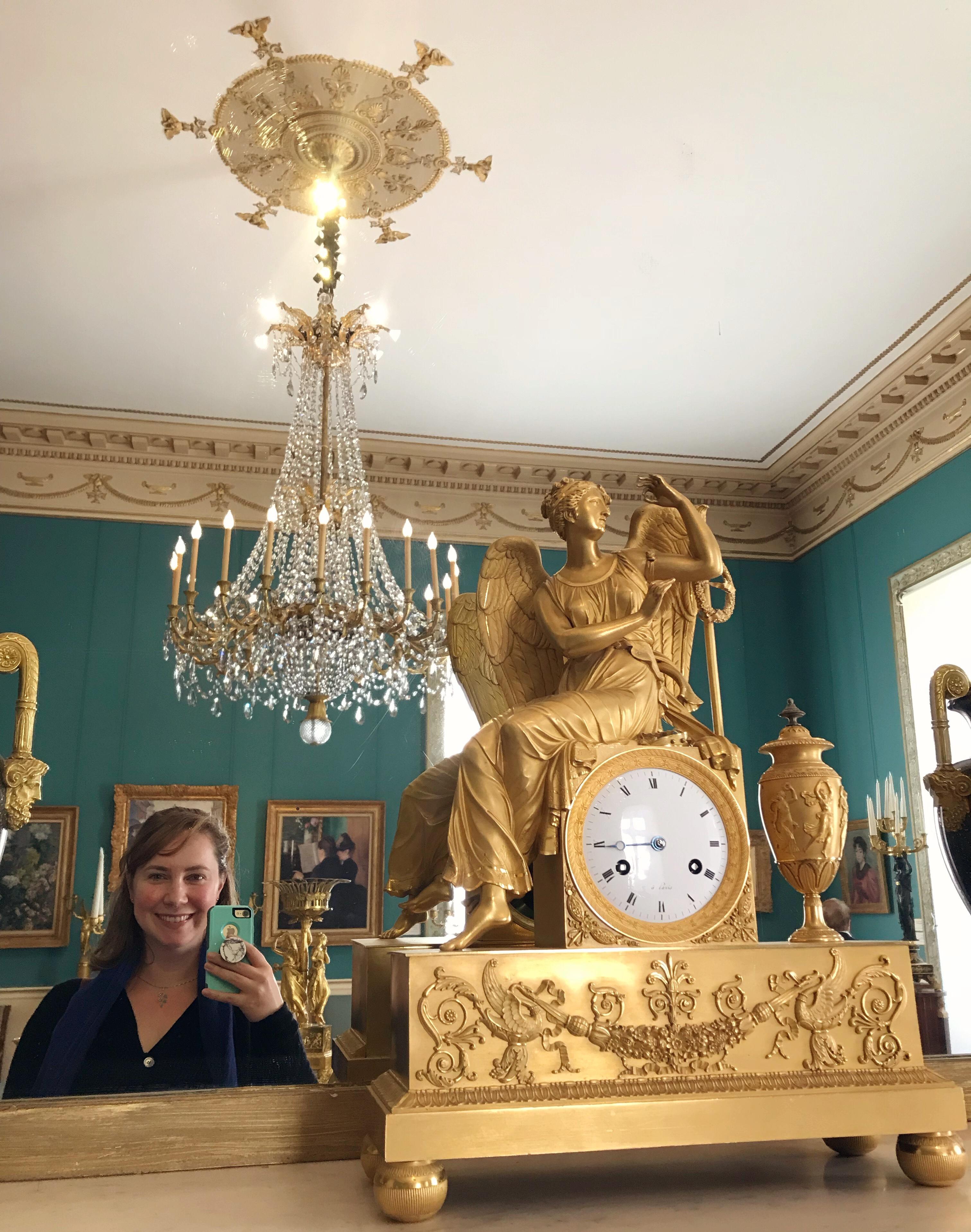 Solo female traveler at the Marmottan-Monet museum in Paris.