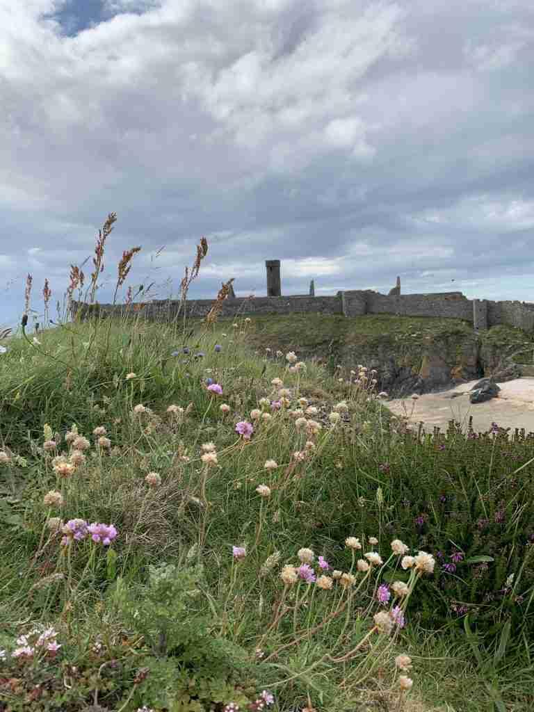 Peel castle on the Isle of Man