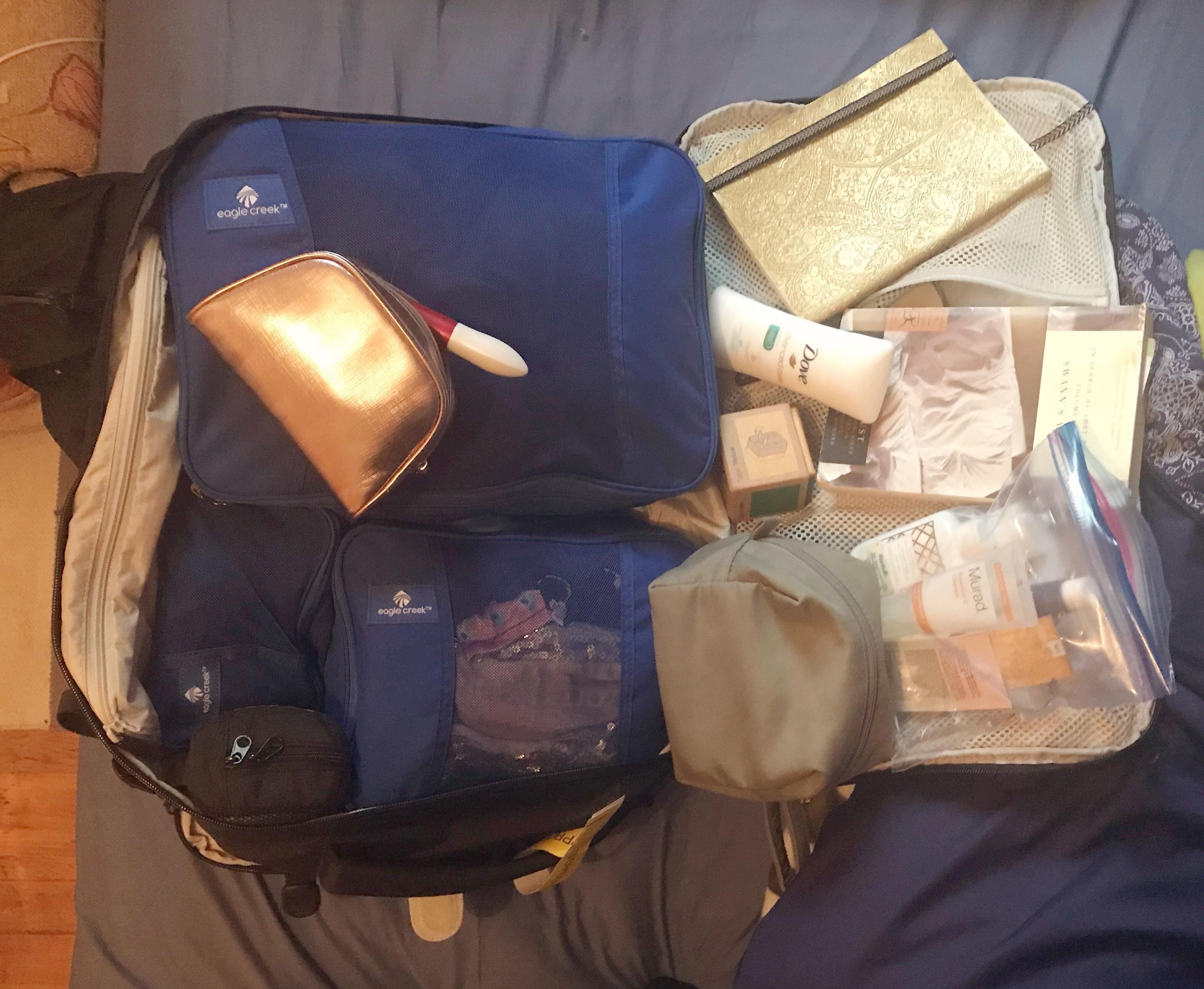 Travel packing list for women