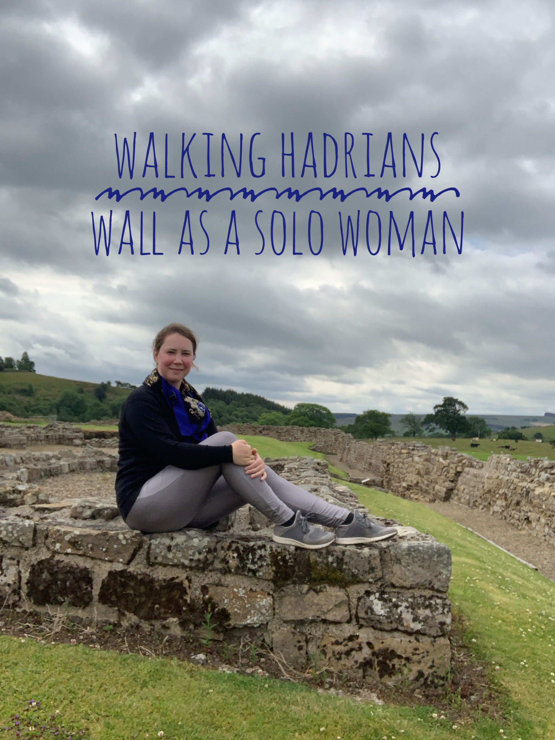 Solo female traveler on Hadrian's Wall England
