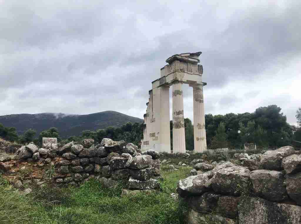Temple ruins at Epidaurus in Greece travel tips for visiting