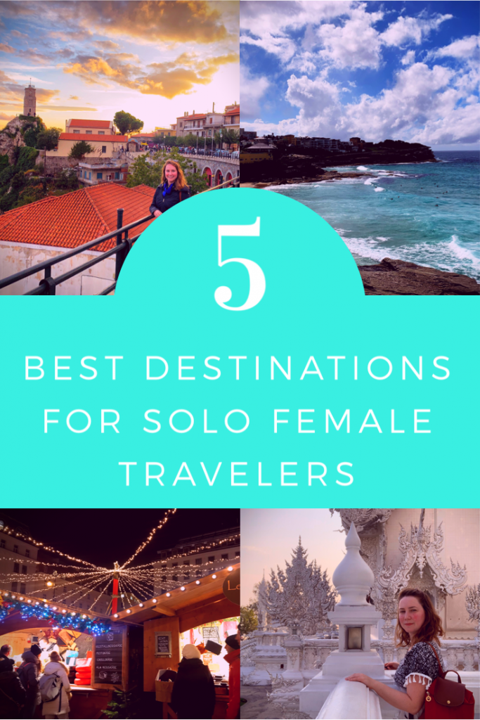 5 best destinations for solo female travel graphic