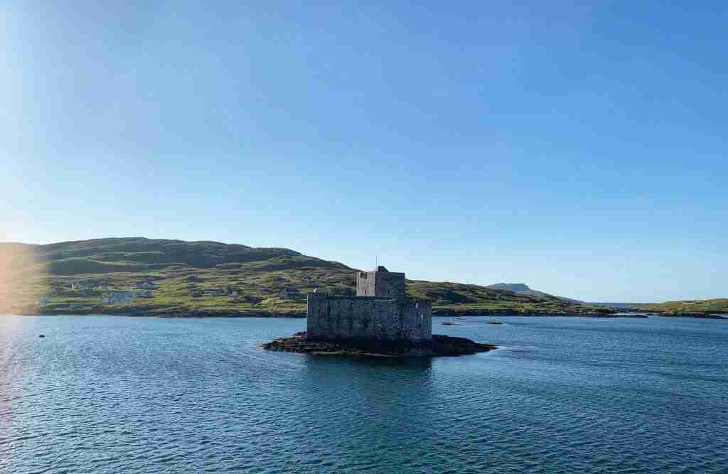Kisimul Castle on the Isle of Barra in Scotland's Outer Hebrides islands