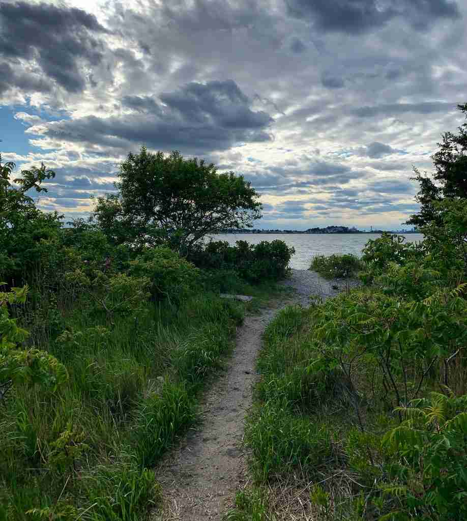 path to the ocean in Webb Park, Weymouth MA