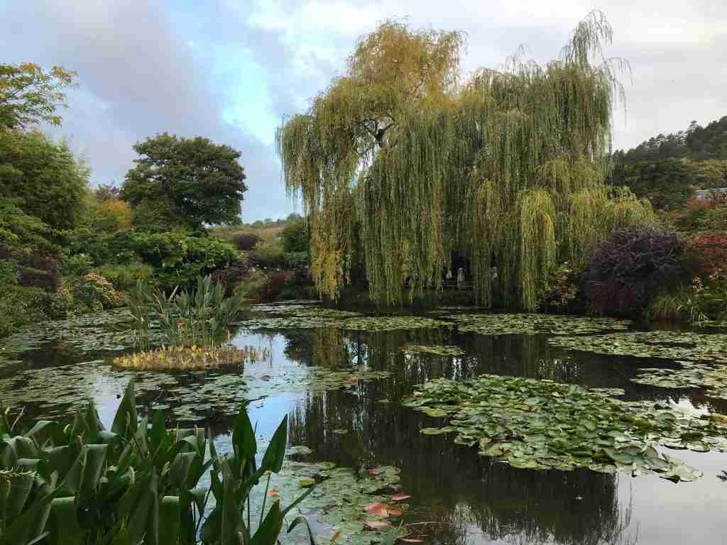 the pond filled with water lilies at Claude Monet's house in Giverny France
